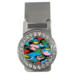 Rainbow Camouflage Money Clips (cz)  by boho
