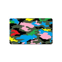 Rainbow Camouflage Magnet (name Card) by boho
