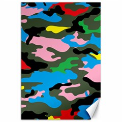 Rainbow Camouflage Canvas 20  X 30   by boho