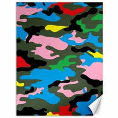 Rainbow Camouflage Canvas 36  X 48   by boho