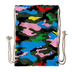 Rainbow Camouflage Drawstring Bag (large) by boho