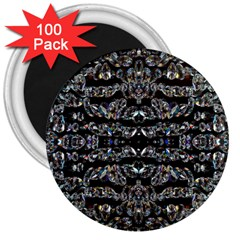 Black Diamonds 3  Magnets (100 Pack) by boho