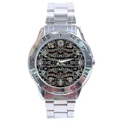 Black Diamonds Stainless Steel Analogue Watch by boho