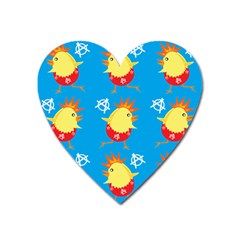 Easter Chick Heart Magnet by boho