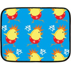 Easter Chick Double Sided Fleece Blanket (mini)  by boho