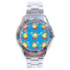 Easter Chick Stainless Steel Analogue Watch by boho