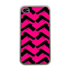 Pink Gun Apple Iphone 4 Case (clear) by boho