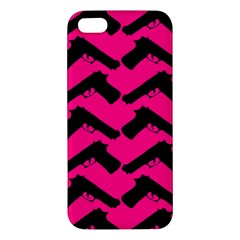 Pink Gun Iphone 5s/ Se Premium Hardshell Case by boho