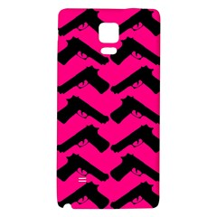 Pink Gun Galaxy Note 4 Back Case by boho