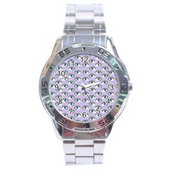 Purple Eyeballs Stainless Steel Analogue Watch by boho