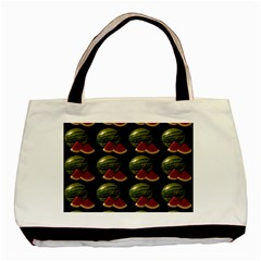 Black Watermelon Basic Tote Bag