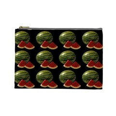 Black Watermelon Cosmetic Bag (large)  by boho