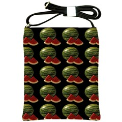 Black Watermelon Shoulder Sling Bags by boho