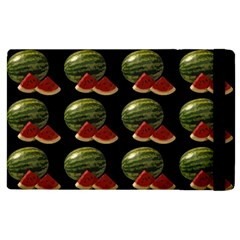 Black Watermelon Apple Ipad 2 Flip Case by boho