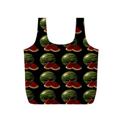 Black Watermelon Full Print Recycle Bags (s)  by boho