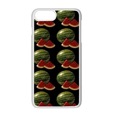 Black Watermelon Apple Iphone 7 Plus White Seamless Case by boho