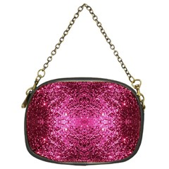 Pink Glitter Chain Purses (two Sides)  by boho