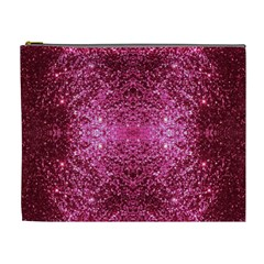 Pink Glitter Cosmetic Bag (xl) by boho