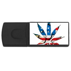 Marijuana Usb Flash Drive Rectangular (4 Gb)