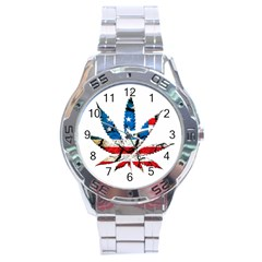 Marijuana Stainless Steel Analogue Watch by boho