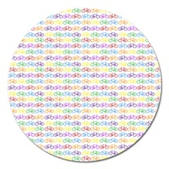 Bicycles Magnet 5  (round) by boho