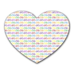 Bicycles Heart Mousepads by boho
