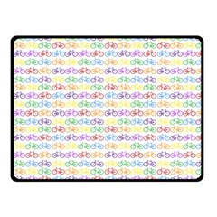 Bicycles Fleece Blanket (small) by boho