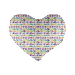 Bicycles Standard 16  Premium Flano Heart Shape Cushions by boho