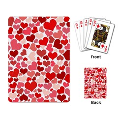 Red Hearts Playing Card by boho