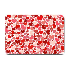 Red Hearts Small Doormat  by boho