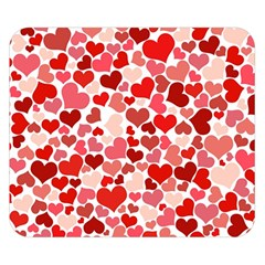 Red Hearts Double Sided Flano Blanket (small)  by boho