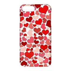 Red Hearts Apple Iphone 7 Plus Hardshell Case by boho