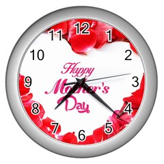 Happy Mothers Day Wall Clocks (silver)