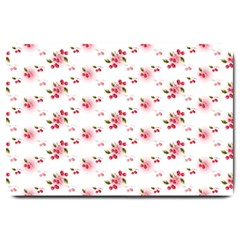 Vintage Cherry Large Doormat  by boho