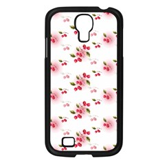 Vintage Cherry Samsung Galaxy S4 I9500/ I9505 Case (black) by boho