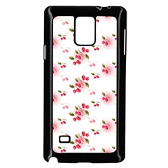 Vintage Cherry Samsung Galaxy Note 4 Case (black) by boho