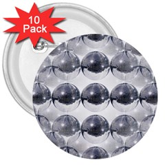 Disco Balls 3  Buttons (10 Pack)  by boho