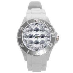 Disco Balls Round Plastic Sport Watch (l) by boho