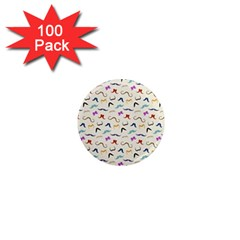 Mustaches 1  Mini Magnets (100 Pack)  by boho