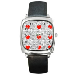 I Love You Square Metal Watch by boho