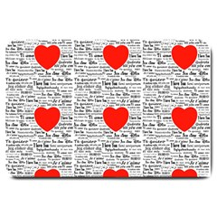 I Love You Large Doormat  by boho