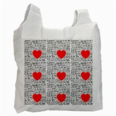 I Love You Recycle Bag (one Side) by boho