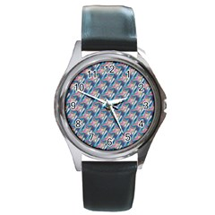 Holographic Hologram Round Metal Watch by boho