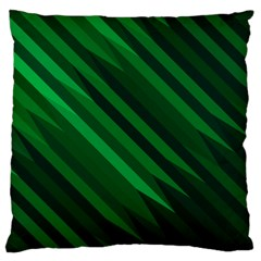 Abstract Blue Stripe Pattern Background Large Cushion Case (two Sides)