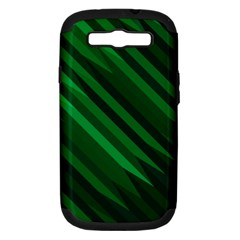 Abstract Blue Stripe Pattern Background Samsung Galaxy S Iii Hardshell Case (pc+silicone)