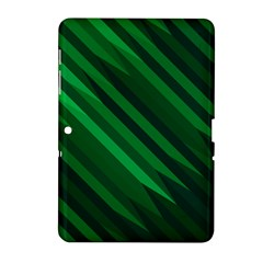 Abstract Blue Stripe Pattern Background Samsung Galaxy Tab 2 (10 1 ) P5100 Hardshell Case  by Simbadda