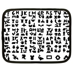 Anchor Puzzle Booklet Pages All Black Netbook Case (large) by Simbadda