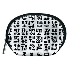 Anchor Puzzle Booklet Pages All Black Accessory Pouches (medium)