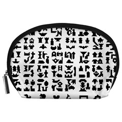 Anchor Puzzle Booklet Pages All Black Accessory Pouches (large)