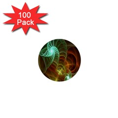 Art Shell Spirals Texture 1  Mini Buttons (100 Pack)  by Simbadda